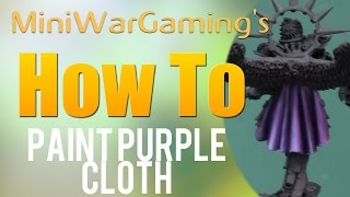 How To: Paint Purple Cloth
