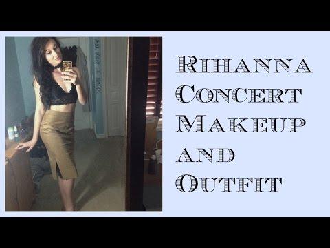 Rihanna ANTI World Tour! Concert Makeup and Outfit!