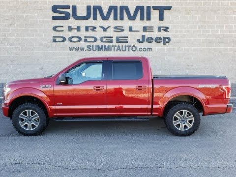 2016 FORD F150 CREW XLT ECOBOOST RUBY RED METALLIC WALK AROUND REVIEW SOLD! 10031A SUMMITAUTO.com