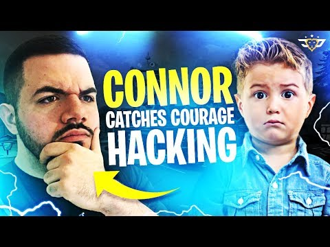 CONNOR CATCHES COURAGE HACKING! I MADE HIM CRY! (Fortnite: Battle Royale)
