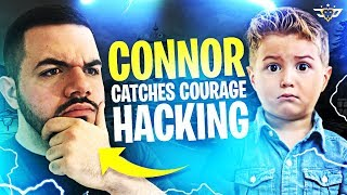 CONNOR PEGA CORAGEM HACKING! EU O FIZ CHORAR! (Fortnite: Battle Royale)