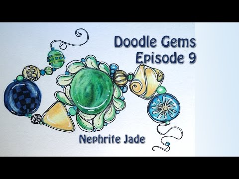 Doodle Gem Episode 9 How to Draw Nephrite Jade