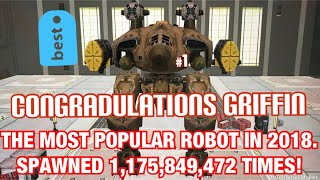 CONGRATS GRIFFIN ON BECOMING MOST POPULAR ROBOT IN 2018 A Compilation Music Video: War Robots