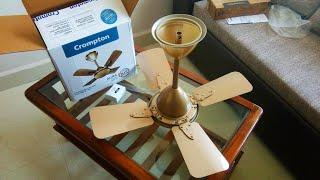 Crompton Aura Prime 600mm Anti Dust High Speed Fan Unboxing