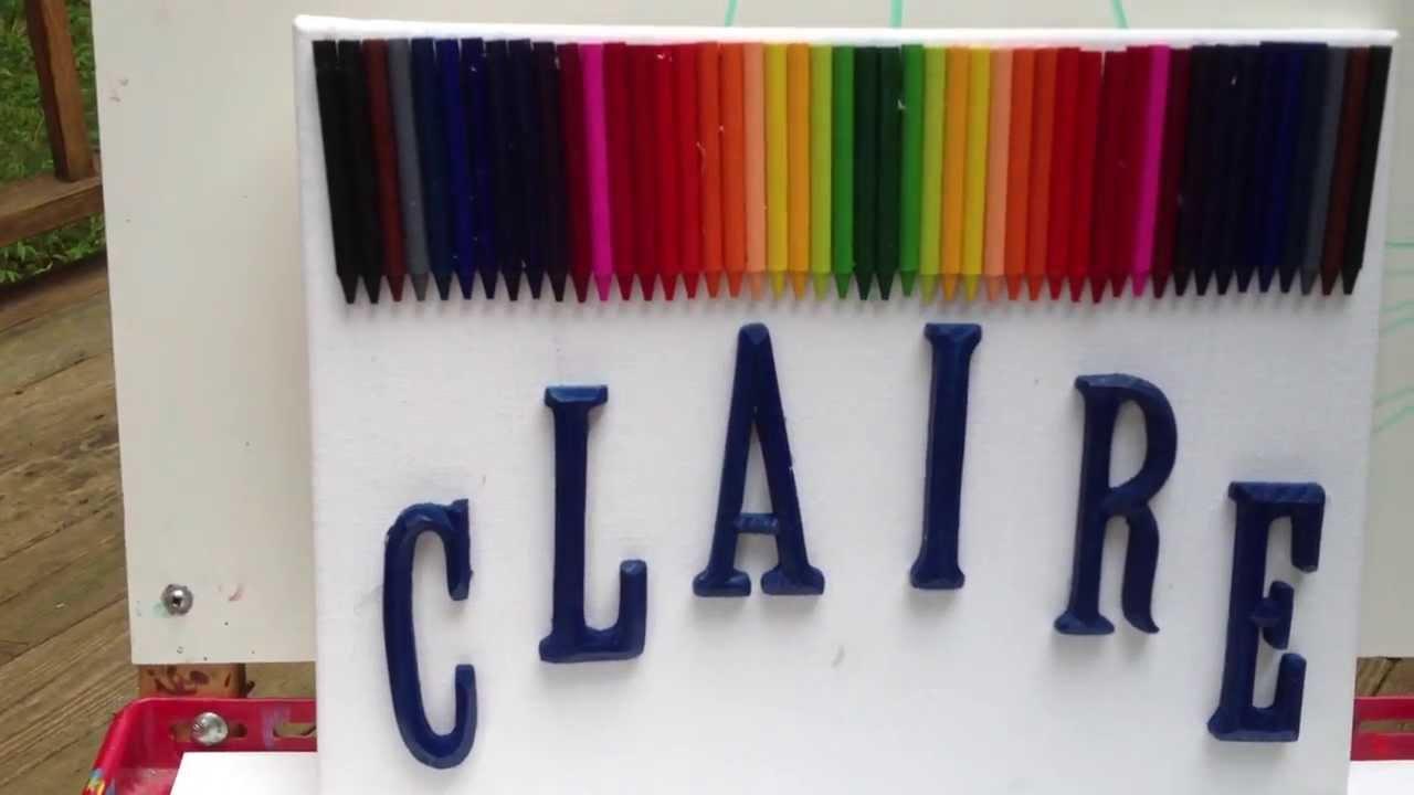 Letter Crayon Colors