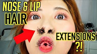 TESTING VIRAL NOSE HAIR EXTENSIONS TREND! this generation is dead to me.