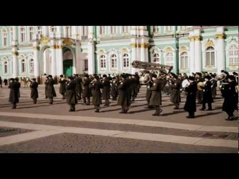 Russian marching band, St. Petersburg