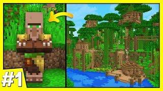 YENİ KÖYLÜLER! 😀 - Minecraft 1.14 Survival | Bölüm 1