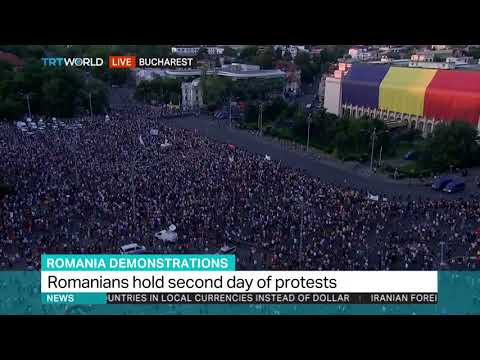 Romanians protest in Bucharest for second day