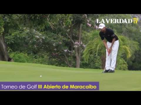 Golfistas compiten en el III Abierto de Maracaibo
