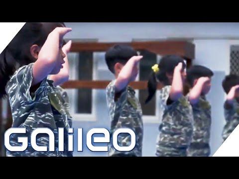 Der härteste Militär-Kindergarten Taiwans | Galileo | ProSieben