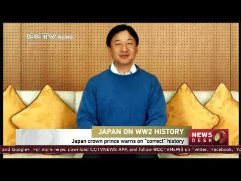Japan's prince urges honesty about WWII