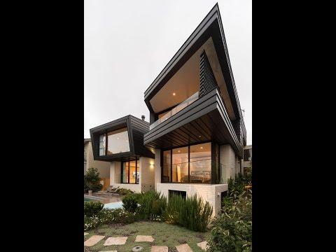 Contemporary Home Design with Two Toned Architecture To mak Stylish and Attractive Look