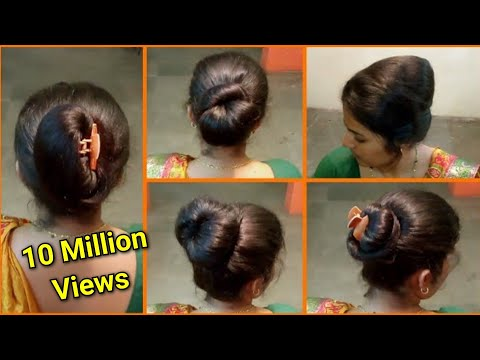 Anjali's bun hairstyles part 9 | 5 easy & quick different.
