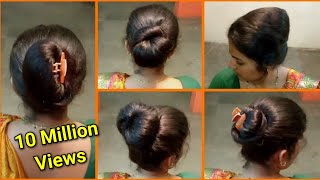 Anjali's Bun Hairstyles Part 9 | 5 Easy \u0026 Quick Different Hairstyles | Bun Hairstyle Tutorial
