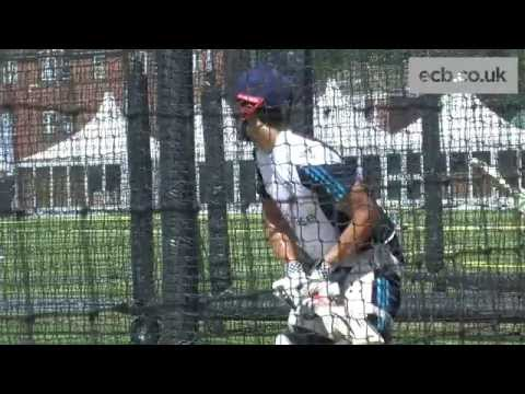 England captain Alastair Cook in the nets at Lord's