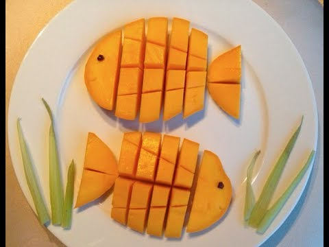 How to make a Fish out of a Mango (Fruit Art Tutorial)