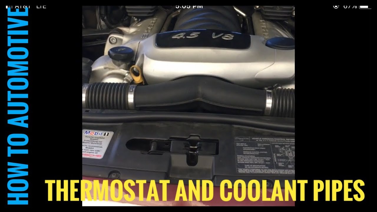 How to Replace the Thermostat/Coolant Pipes under Intake Manifold  on a Porsche Cayenne S (Part 1)