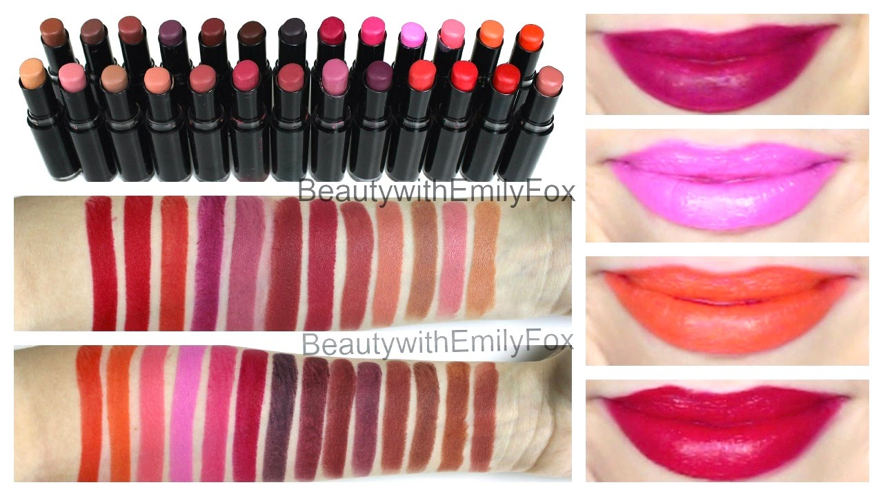 Wet n Wild Megalast Lipstick + Lip Swatches - ALL THE SHADES - YouTube