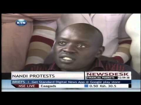 Civil society groups in Nandi hold demonstrations in Kapsabet