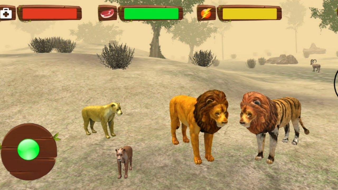 Angry Lion Jungle Revenge - Wild Lion Family Simulator ( Best Animal Games )