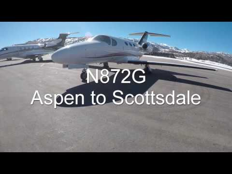 N872G Aspen to Scottsdale Cessna Citation Mustang C510 1080p