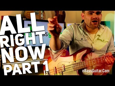 How To Play All Right Now  Free Bass Guitar Lesson Part 1