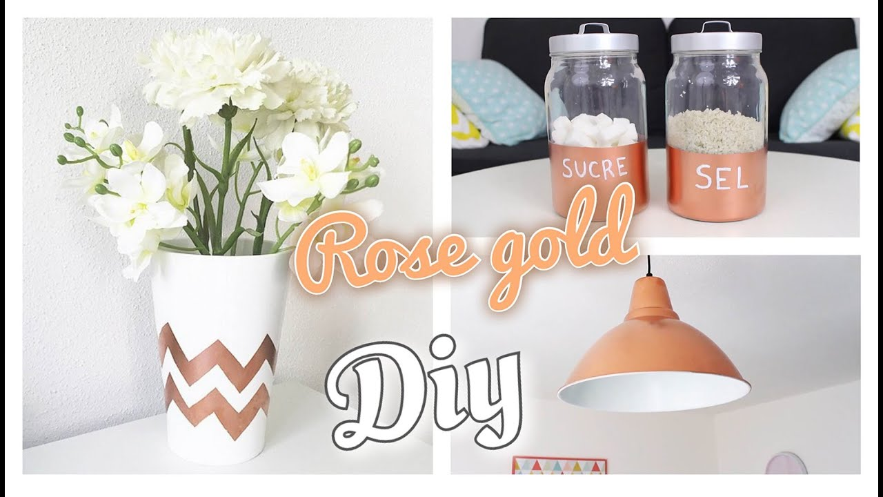 3 diy dco cuivre ou rose gold laura makeuptips - Chambre Rose Gold