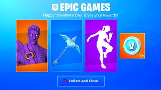 FORTNITE NEW VALENTINES DAY UPDATE! FORTNITE VALENTINES DAY FREE REWARDS! FORTNITE DARK LOVE RANGER