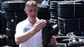 HOW TO: Connect Land Drains Together | Drainage Sales(This is a question Drainage Sales get asked all the time. We explain which fittings to use when connecting Land Drains together or when connecting a Land ..., 2015-06-23T10:36:46.000Z)