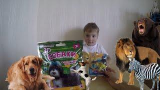 3Д Игрушки распаковываем и собираем фигурки животных.