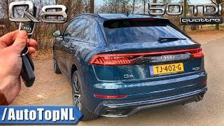 Audi Q8 S Line 50 TDI REVIEW POV Test Drive on AUTOBAHN & ROAD by AutoTopNL