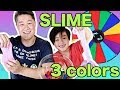 3 Colors Of Glue Slime Challenge For Kids Mystery Slime Wheel mp3