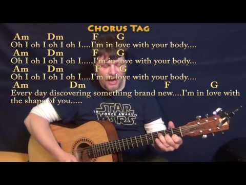 Shape of You (Ed Sheeran) Strum Guitar Cover Lesson in Am with Chords/Lyrics