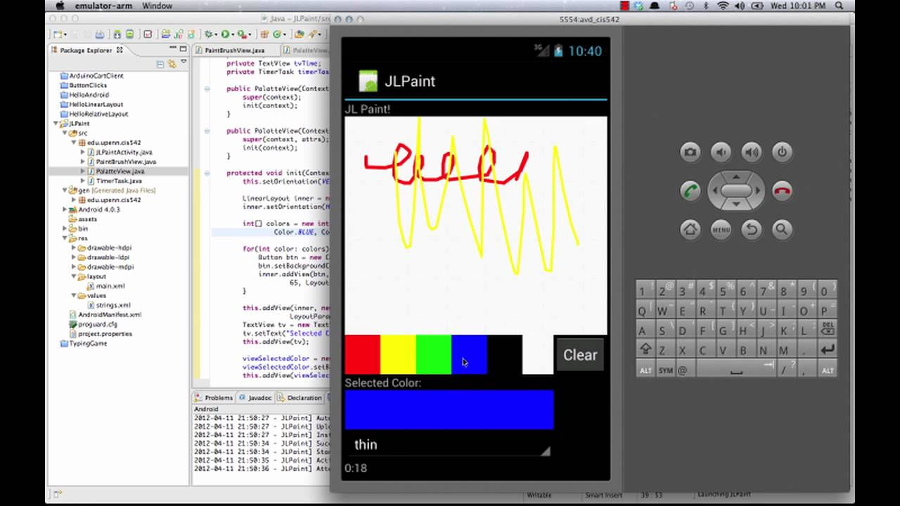 android paint application 2 - youtube