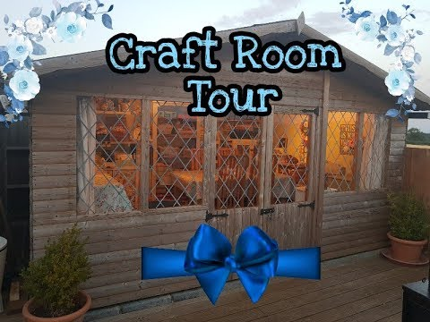 Craft Room Tour Aug 2018 | Craft Supplies | Craft Cabin