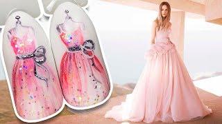 👗 Свадебное Платье 👗 Простой дизайн гель лаком Пошагово к Свадебному Маникюру Patrisa Nail Art