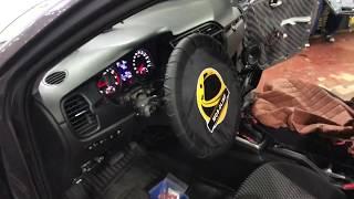 Kia Rio автозвук. Замена магнитолы, установка колонок через кольца, два усилителя и сабвуфер