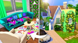 Фото COLORFUL TINY COTTAGE // Sims 4 Speed Build