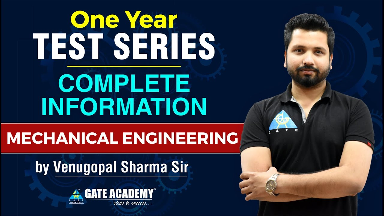 One Year Test Series | Complete Information | Mechanical Engineering | by Venugopal Sharma Sir