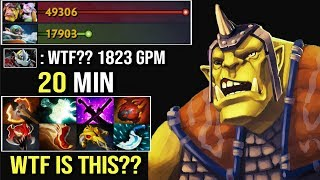 WTF IS THIS 8 Slot in 20 Min 1823 GPM Madness Alchemist Epic Pro Farm Style by Waga Dota 2
