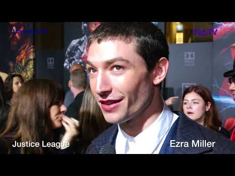"Ezra Miller ""THE FLASH"" @ Justice League premiere on MarvelousTV"
