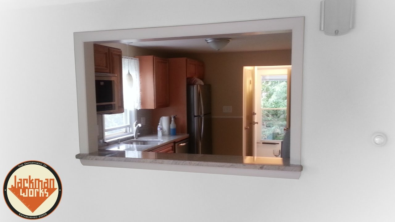 Kitchen-Living Room Passthrough Window - YouTube