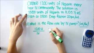 nursing iv calculations