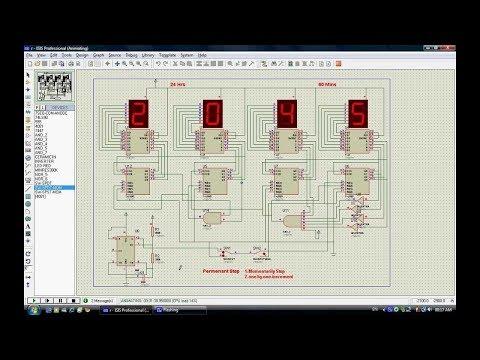 Digital Clock Using Counter and Decoder IC