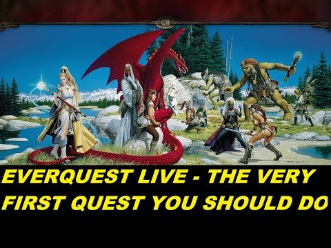 EverQuest LIVE - Newbie guide - The VERY first quest you should do when starting new (1080p)