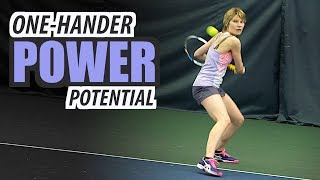 How to: Increase One-Handed Backhand POWER Potential - tennis lesson