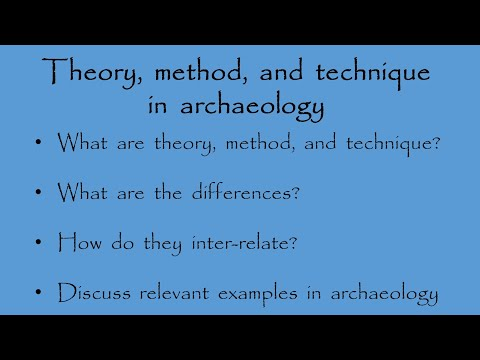 Theory, method, and technique in archaeology