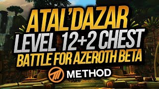 LVL 12 + 2 Atal'Dazar Mythic+ (Battle for Azeroth Beta) | Method