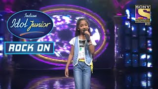 """Mere Khwabon Mein "" गाने पर इस Junior Idol ने दिया एक शानदार Performance|Indian IdolJunior |Rock On"